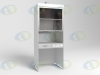 Шкаф вытяжной ШВ-01-МСК без тумб, столешница нерж. сталь (эконом)